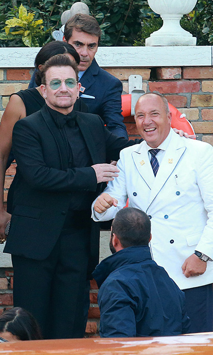 Bono on his way to George Clooney's wedding. Photo: © Getty Images