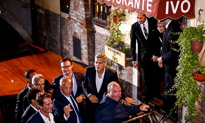 Afterwards George Clooney went and thanked each member of staff in the restaurant personally.