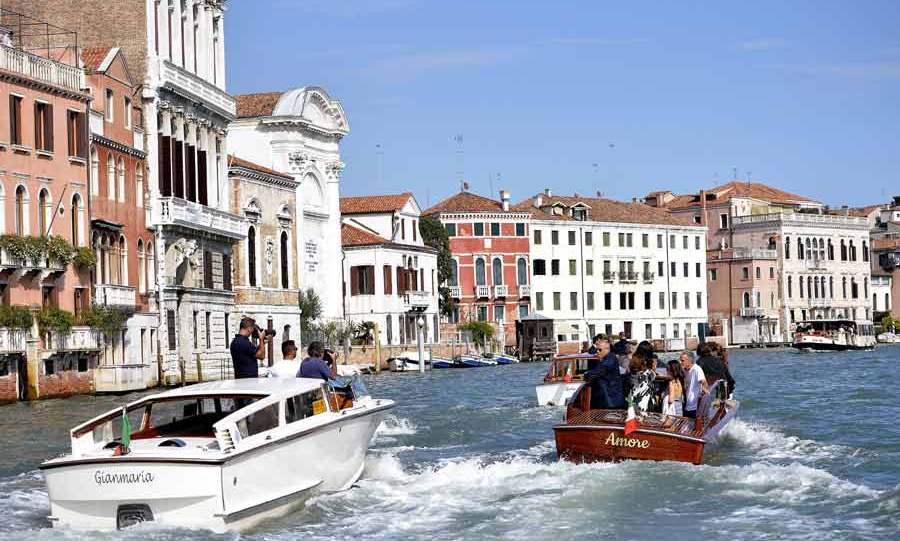 George Clooney and Amal Alamuddin turned the Venice waterways into the setting for their very own Hollywood love story. Photo: © Getty Images