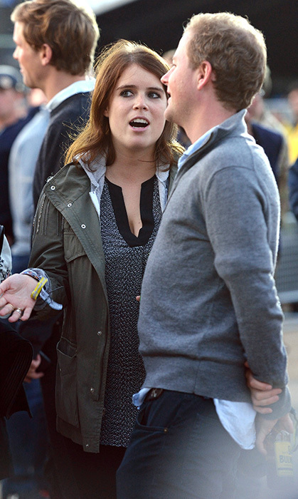 Guy Pelly chatting with Princess Eugenie. (Photo © Getty)