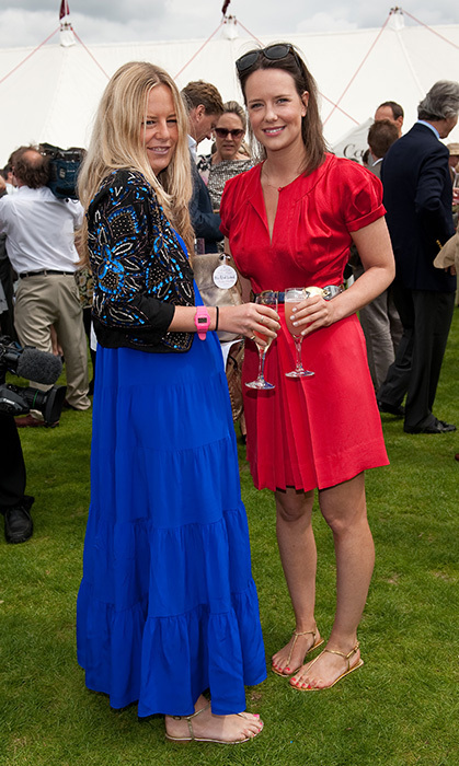 Astrid Harbord hangs out with fellow Glosse (and Prince William's ex) Arabella Musgrave. (Photo © Getty)