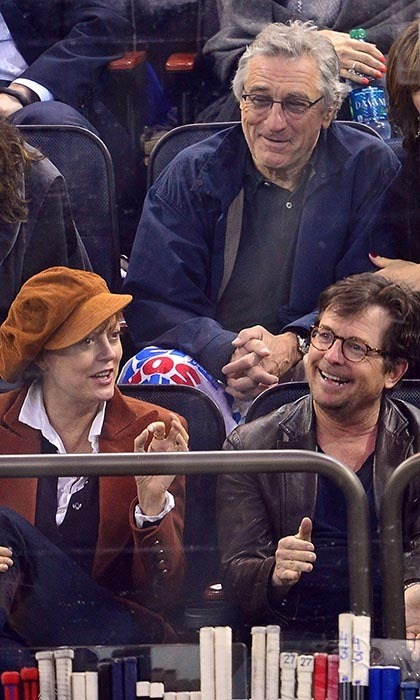 The New York Rangers' turn against the Montreal Canadiens during the 2014 Stanley Cup playoffs was particularly star-studded, with mega-watt actors like Susan Sarandon (with son Miles Robbins), Robert De Niro and Michael J. Fox all in attendance. (Image: James Devaney)