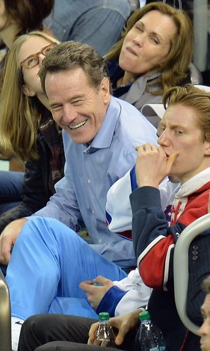 Bryan Cranston is a star both in Hollywood and on Broadway, so it makes sense that he attended game three of the 2014 Stanley Cup finals, which pitted the Los Angeles Kings against the New York Rangers. (Image: Mike Coppola/Getty Images)