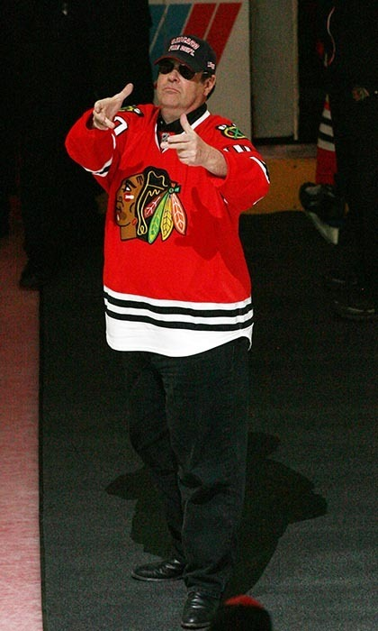 While Dan Aykroyd sported a Chicago Blackhawks jersey at a game in 2009, he isn't a fan of the team. He told 'The Sheaf' that the owner of the Hawks asked him to attend, and that he's actually a Montreal Canadiens fan. Turns out Dan is neighbours with ex-Canadiens left-winger Kirk Muller. (Image: Taso Katopodis/Getty Images)