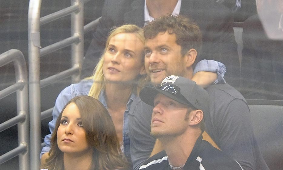 Diane Kruger and Joshua Jackson are proud supporters of the Los Angeles Kings. The former couple were often seen in the stands, like here, in 2012, when they caught a playoff game against the New Jersey Devils. (Image: Noel Vasquez/Getty Images)