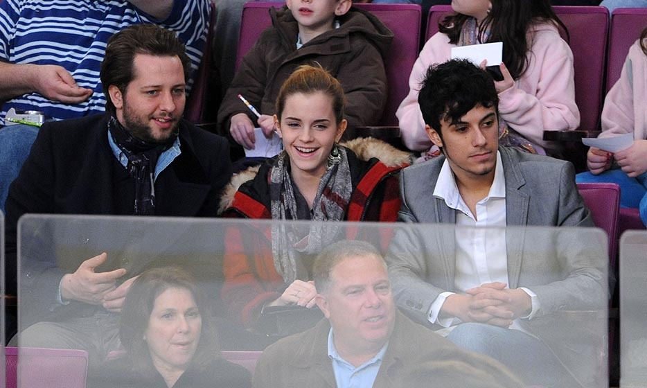 'Harry Potter' star Emma Watson isn't your typical Brit, because she'll gladly catch a battle on the ice when there isn't a football match around. Along with society columnist Derek Blasberg and her former boyfriend, Rafael Cebrian, the young actress caught a game between the Florida Panthers and New York Rangers in 2009. (Image: James Devaney/Getty Images)