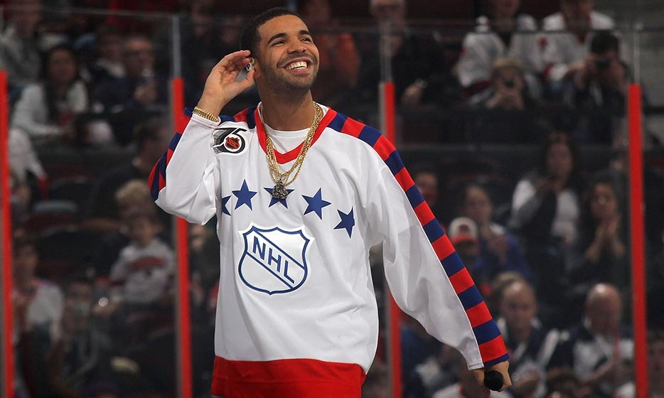 Rapper Drake blew the roof off Ottawa's Scotiabank Place when he performed at the 2012 Tim Horton's NHL All-Star Game. But he's more than just a singer – Drake reportedly played for the Weston Red Wings growing up. (Image: Bruce Bennett/Getty Images)