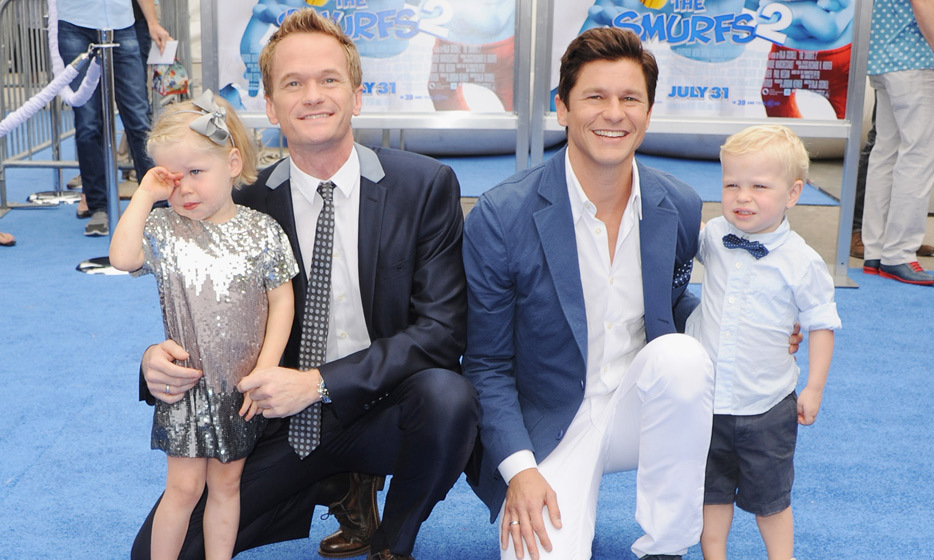 "Neil Patrick Harris and David Burtka had twins in 2010 via a surrogate mother who was close to the couple. David told Oprah in an interview that Gideon Scott and Harper Grace were the product of ""two eggs, two embryos, one of mine, one of his."" (Image: Getty)"