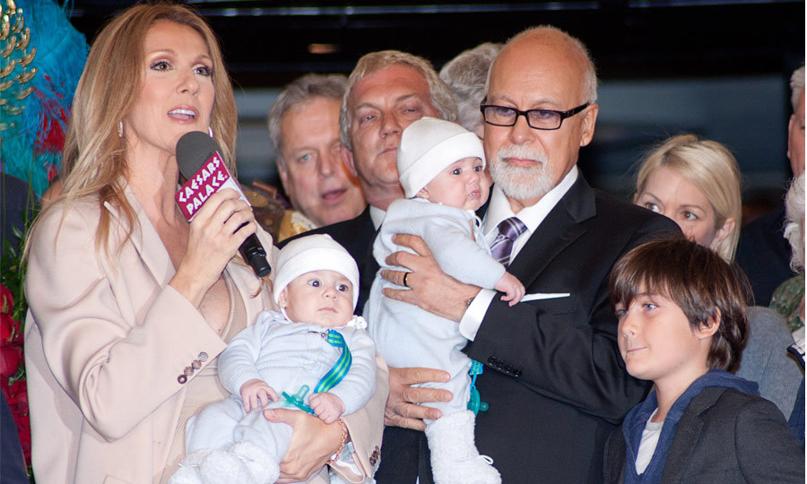 Celine Dion and Rene Angelil welcomed fraternal sons to the world in 2010, and the couple named their children after people they greatly admire. Little Eddie was named after Celine's favourite Algerian songwriter, Eddy Marnay, while Nelson was taken from Nelson Mandela. (Image: Rex)