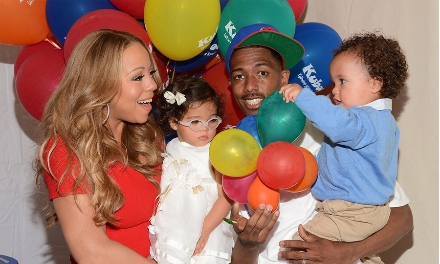 "Mariah Carey and Nick Cannon had twins in 2011, and rumour has it the pop diva was listening to her hit song, ""We Belong Together,"" while in labour. The twins, Moroccan and Monroe (or ""Roc and Roe,"" as Mariah calls them), were born on the former couple's wedding anniversary. (Image: Getty)"