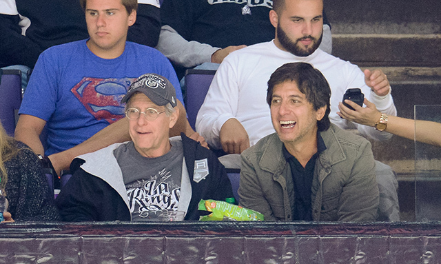 Funnyman Ray Romano took in a game between the San Jose Sharks and the Los Angeles Kings on Oct. 8 in LA. (Photo: Noel Vasquez/Getty Images)
