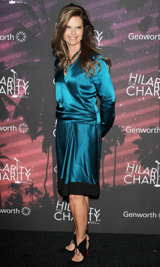 Maria Shriver dazzled at the event, dressed to kill in a silk wrap dress with gorgeous Christian Louboutin shoes. (Image: Getty)