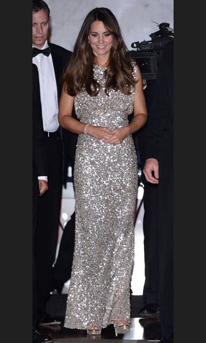The epitome of dazzling in silver Jenny Packham at the Tusk Trust Conservation Awards in September, 2013.