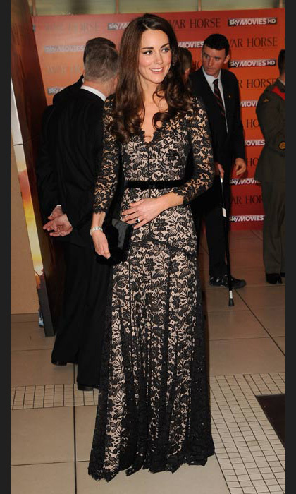 Lovely in a lace Temperley London dress at the War Horse premiere in January, 2012.