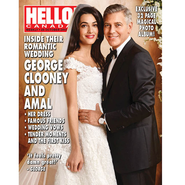 For her special day, Amal Alamuddin chose a romantic, A-line Oscar de la Renta gown with cap sleeves.