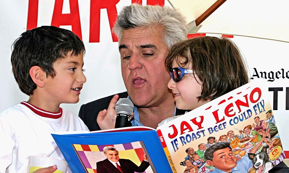 Former talk show host Jay Leno released 'If Roast Beef Could Fly' in 2004, a children's book that retells a true story from his childhood. A young Jay stealthily attempts to sample the large roast beef commemorating the launch of his father's newly built patio.