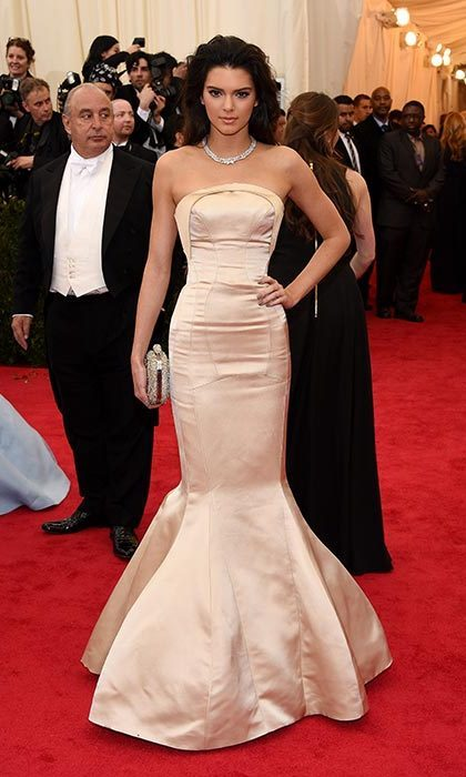 Kendall stepped out in a stunning dress from Topshop for the 2014 Met Gala. Photo: © Getty Images