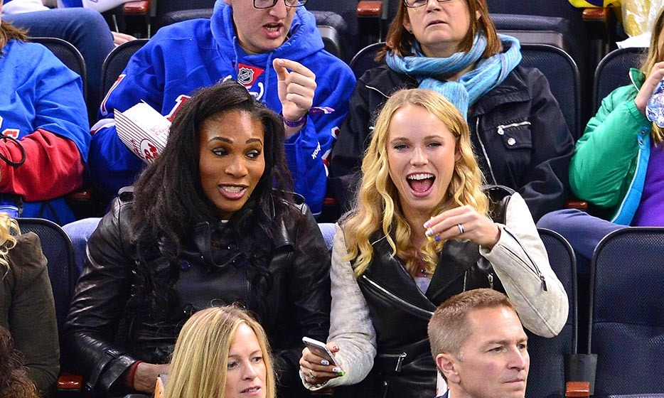 Tennis pros Serena Williams and Caroline Wozniacki swapped the court for the ice to watch the New York Rangers take on the Winnipeg Jets in November 2014.