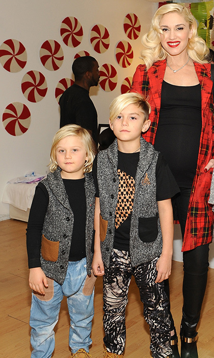 The apple doesn't fall far from the tree with Gwen's punk leanings! Eight-year-old Kingston and seven-year-old Zuma don everything from cool kicks to sleeveless tees. There's also their love of half-shaved hairstyles. (Photo: Getty Images)
