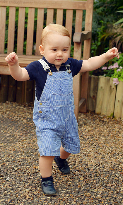 From overalls to collared shirts and even sweet sweaters, this look has seen a surge in popularity largely because of Will and Kate's one-year-old babe, Prince George. Everything he dons screams regal prep-school kid, from his striped shirts to his Mary Jane shoes. (Photo: Getty Images)