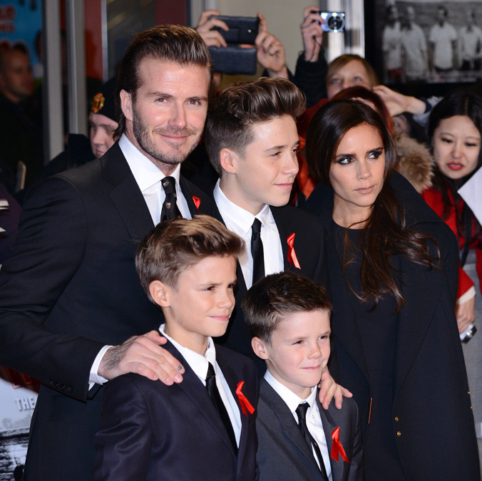 There is no brood that's quite like the Beckhams. All of the kids are easy on the eyes – just like their parents David and Victoria – and they have an entrepreneurial spirit. Brooklyn, 15, just signed a contract with Arsenal, the same English soccer team his dad trained with. Twelve-year-old Romeo is raking it in thanks to his modelling gig with Burberry. Cruz, who is 9, is active in all sorts of activities, from soccer to acting. And Harper, 3, is a mini-fashionista in the making, donning couture duds from labels like Marc Jacobs and Stella McCartney and stealing the limelight sitting front row at her mom's shows. (Photo: © Getty Images)
