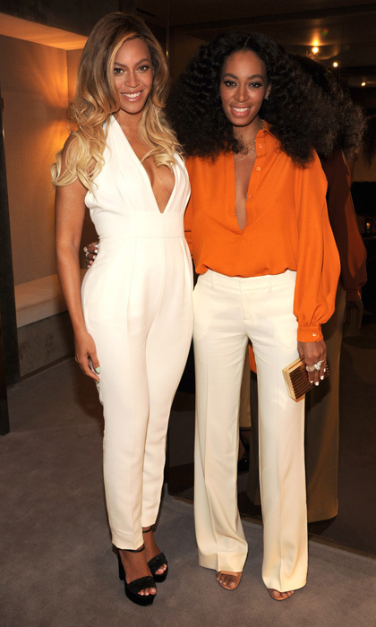 Stunning, talented and full of personality – these are just a few of the traits that Beyoncé and her 28-year-old sister share. Both have also been known to rock a red carpet, hence their regular gigs working with fashion houses. Queen Bey just announced she will be working with Topshop on a new line of athletic leisurewear, and Solange showed up at Toronto Fashion Week to support Joe Fresh. (Photo: © Getty Images)
