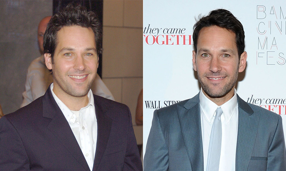 "Paul Rudd was just 26 years old when he played Cher Horowtiz's collegiate love interest in 'Clueless.' Now, at age 45, he looks almost exactly the same. Even 'This Is 40' costar Leslie Mann has noticed, telling one reporter, ""I know, he looks really good, doesn't he? It's crazy. I don't know what's happening, and we're all aging around him."" (Photo: © Getty Images)"