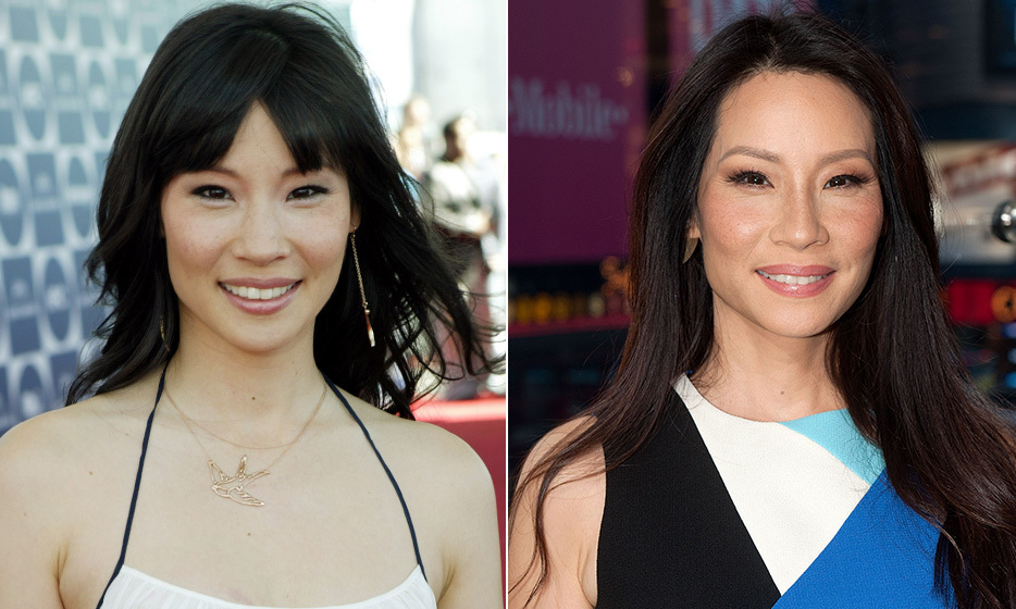 "Besides regular acupuncture sessions, Lucy Liu, 45, wakes up every morning to a fruit smoothie – no caffeine! ""I drink a lot of water, and I've never had coffee. I think caffeine can be really bad for your skin,"" she says. (Photo: © Getty Images)"