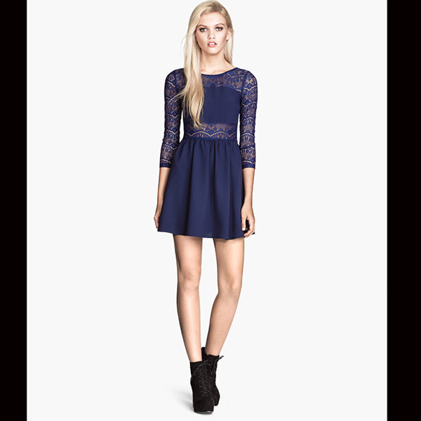 Lace dress, $34.95. Available at H&M.