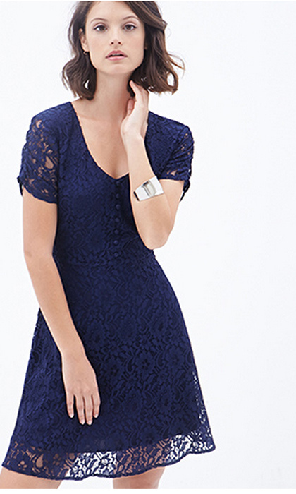 Floral Lace A-Line Dress, $33.80. Available at Forever21.