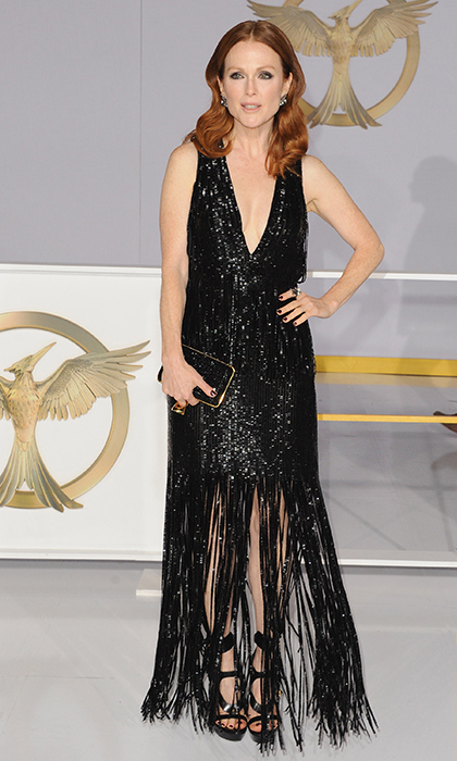 Julianne Moore: Could Julianne be any more beautiful? We think not. The 53-year-old donned a fitted and low-cut black dress - by one of her favourite designers, Tom Ford - that almost bowled us over when we first saw it. (Photo: Getty Images)
