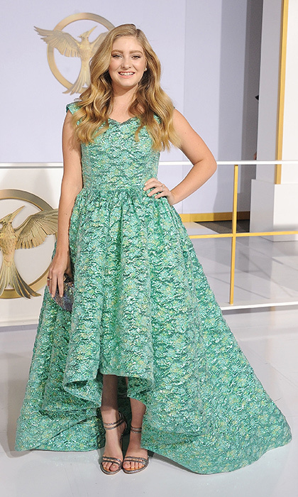 Willow Shields: She plays Jennifer Lawrence's sister in the blockbuster, and it's easy to see why! Also opting for a tea-length dress with retro inspiration, Willow had us green with envy over her stunning Christian Siriano number. (Photo: Getty Images)