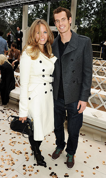 At the Burberry show in 2012 with Andy. Photo: © Getty Images
