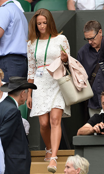 Chic in a lace dress as she supports Andy at Wimbledon. Photo: © Getty Images
