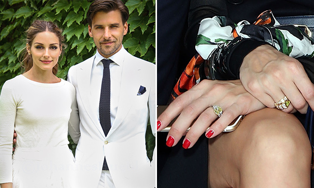 OLIVIA PALERMO: German model Johannes Huebl proposed to Olivia on New Year's Eve last year during a holiday in St Bart's. He later took to Instagram to share the happy news with his fans, uploading a video that shows his fiancée walking ahead of him through the idyllic beach resort before turning round and flashing her new engagement ring. The couple married six months later in a secret New York ceremony.