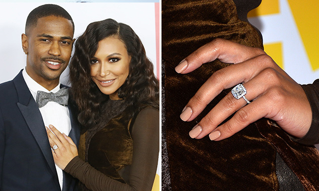 NAYA RIVERA: The 'Glee' actress received a $100,000, 3.5-carat Neil Lane engagement ring from her rapper fiancé, Big Sean, in July.