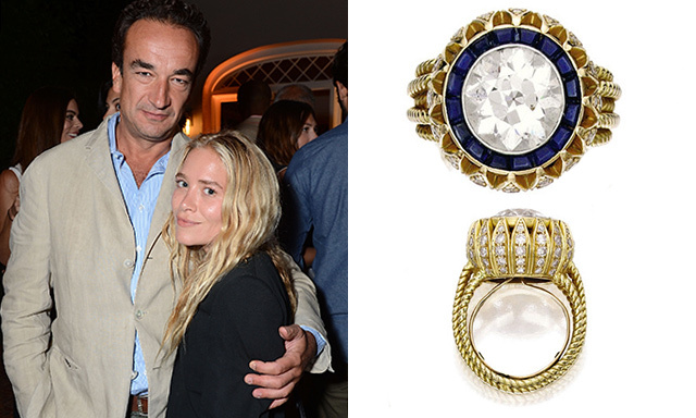 MARY-KATE OLSEN: Olivier Sarkozy proposed to Mary-Kate with a vintage, four-carat Cartier engagement ring, which sold at auction for $81,250.