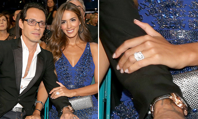 SHANNON DE LIMA: Marc Anthony popped the question to his 26-year-old model girlfriend in November. She gave fans a rare glimpse of the diamond sparkler in an Instagram photo.