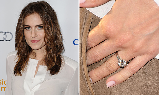 "ALLISON WILLIAMS: The 'Girls' actress said ""yes"" to a sparkling, round-cut diamond ring, which was given to her by her boyfriend of three years, Ricky Van Even, in February."