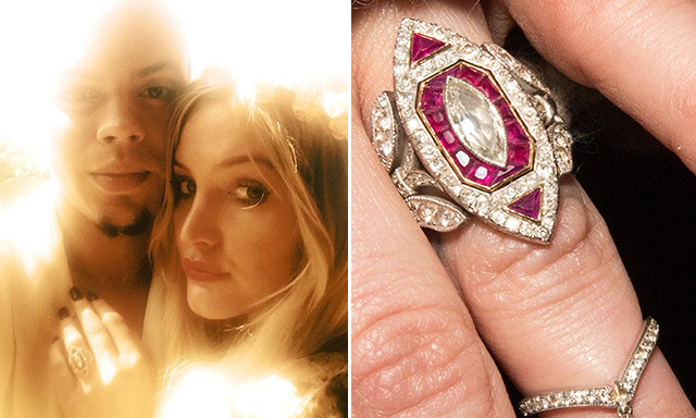 ASHLEE SIMPSON: In January, the younger sister of Jessica Simpson announced her engagement to Diana Ross' son, Evan Ross, who proposed with a five-carat, Neil Lane ring made up of more than 140 white diamonds and small rubies. The couple tied the knot in September in a Bohemian-style ceremony held at Diana Ross' Connecticut estate.