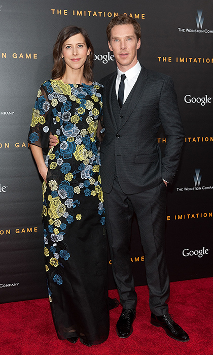 SOPHIE HUNTER: Benedict Cumberbatch proposed to his leading lady in November with a large cushion-cut diamond surrounded by a halo of smaller stones.
