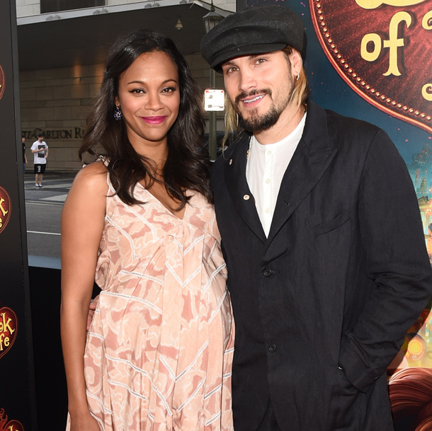 'Guardians of the Galaxy' star Zoe Saldana and her husband, Marco Perego, welcomed their twins in Dec. 2014 in Los Angeles, though the genders and names of the babies are still unknown. (Image: Getty)