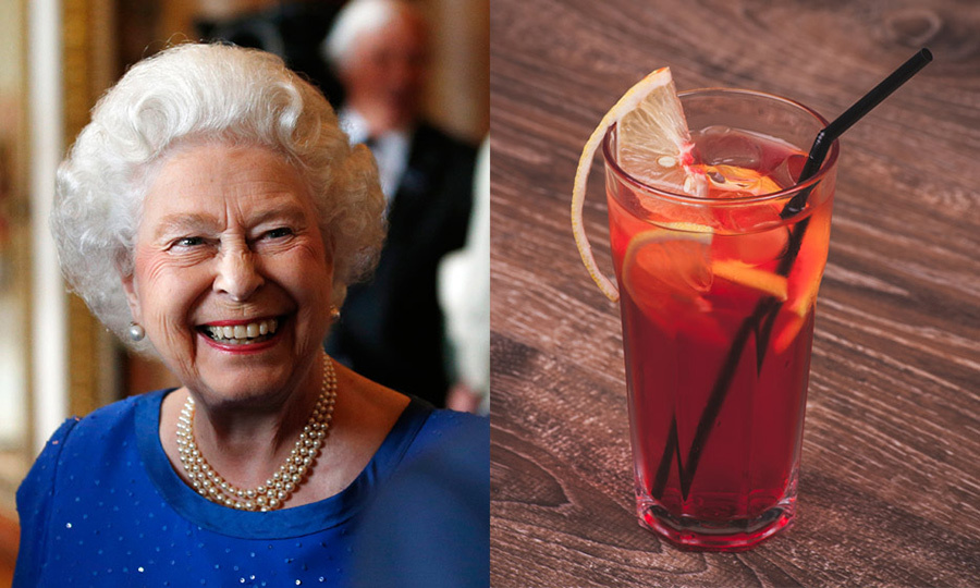 THE QUEEN: Dubonnet Rouge Gin cocktail