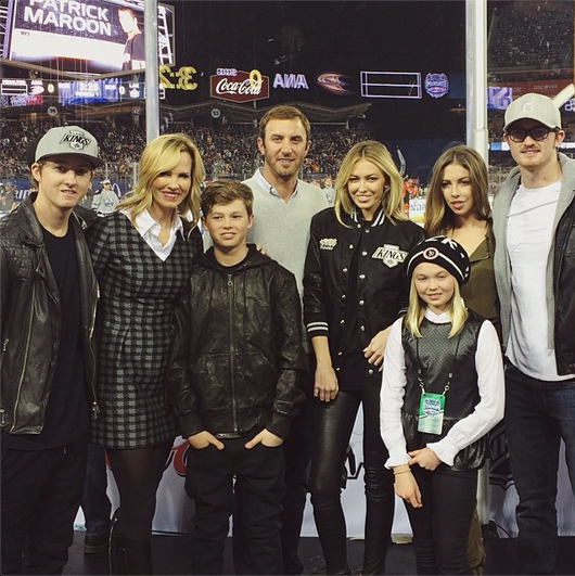 Family time! The Gretzky clan attended an LA Kings NHL game together in late January.