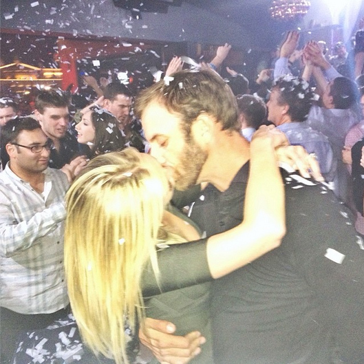 """Nothing else matters,"" loved-up Paulina captioned this romantic photo of her and Dustin kissing."