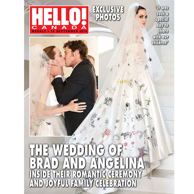 7) Brad and Angelina tie the knot in secret ceremony
