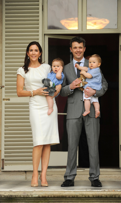 Frederik and Mary posed with their 10-month-old twins in Nov. 2011 during the couple's first visit to Mary's native Australia since she gave birth. 