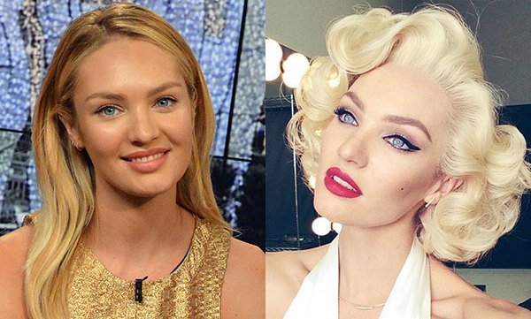 Candice Swanepoel Channels Marilyn Monroe With Make Up