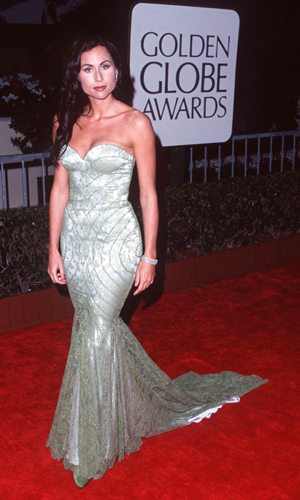 Minnie Driver topped all the best-dressed lists for her 1998 Golden Globes look, a mermaid-style silver Givenchy number with a sweetheart neckline. (Photo by SGranitz/WireImage)