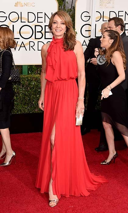 Allison Janney was ravishing in a red gown. 